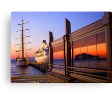 Maritime Sunset Reflections Canvas Print
