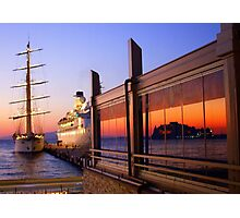 Maritime Sunset Reflections Photographic Print