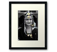 Traditional Jewelery of Punjabi Girl Framed Print