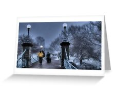 Winter in Boston Greeting Card