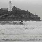 Surfing the Godrevy Swell by Michelle Lovegrove