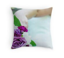 Bouquet at the Castle Throw Pillow