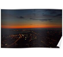 Sunset view of Toronto from the CN tower Poster