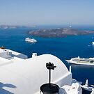 Santorini and the Crater. by imagic