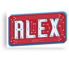 Alex Design Co. - Type Print #1 Canvas Print