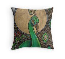 Icon VII: The Peacock Throw Pillow