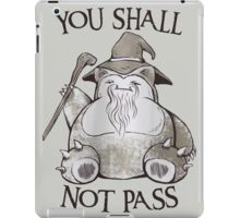 You Shall Not Pass iPad Case/Skin