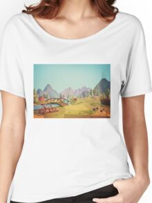 Geometric Enjoy Nature Women's Relaxed Fit T-Shirt