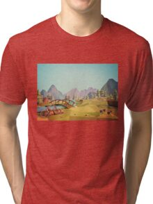 Geometric Enjoy Nature Tri-blend T-Shirt