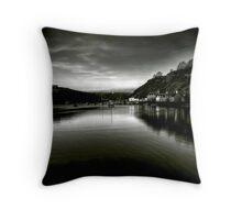 Fishguard Harbour Throw Pillow