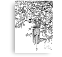 Hangin' with the Chickadees Canvas Print