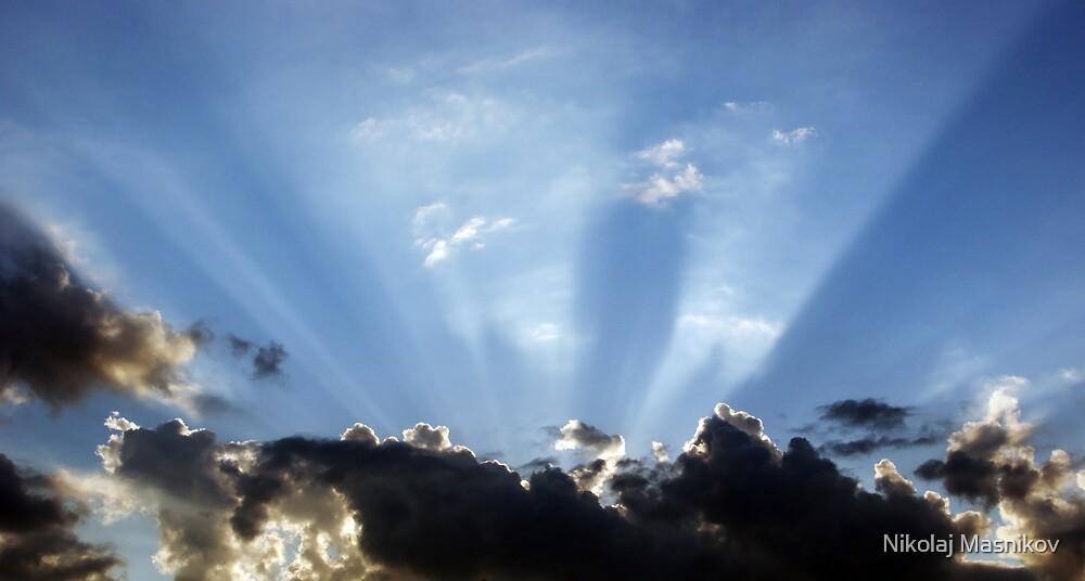 Shining Sun Rays on the Dark Sky by Nikolaj Masnikov