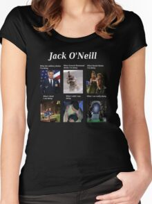 what Jack O'Neill is doing Women's Fitted Scoop T-Shirt