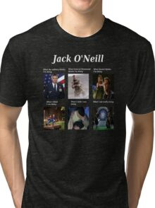 what Jack O'Neill is doing Tri-blend T-Shirt
