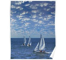 Around the World - Sailboats Poster