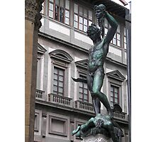 Perseus with the Head of Medusa Photographic Print