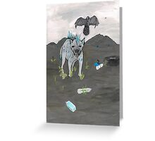 Hyena Lunges Greeting Card