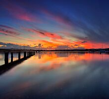 Bolton Point Pool Sunset by Mark Snelson