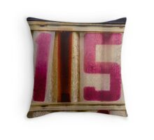 Red 15 Throw Pillow