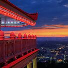Pagoda Overlooking City of Reading, Pennsylvania by Michael Mill