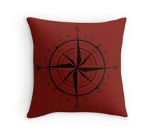 True North Compass Nautical Love Throw Pillow