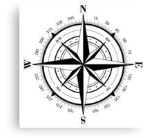 True North Compass Nautical Love Canvas Print