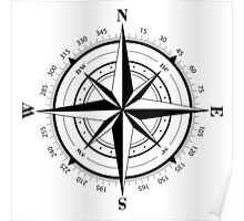 True North Compass Nautical Love Poster