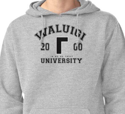 Waluigi University Pullover Hoodie
