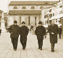 Four Gentlemen in Venice by Nedim Bosnic