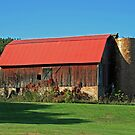 red topped barn by Lynne Prestebak