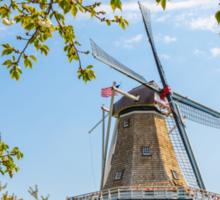 Dutch Windmill in Holland Michigan Sticker