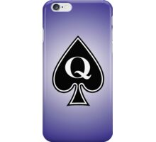 Smartphone Case - Queen of Spades - Purple iPhone Case/Skin