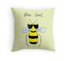 Bee Cool Throw Pillow