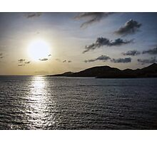Sunset in St. Maarten Photographic Print
