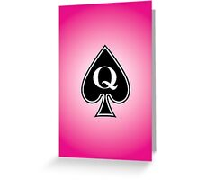 Smartphone Case - Queen of Spades - Magenta Greeting Card