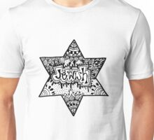 Jewish Star Zentangle Unisex T-Shirt