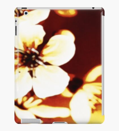 Oriental Blossom/Great White Cherry Abstract by Jenny Meehan iPad Case/Skin