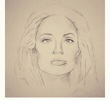 Portrait of Angelina Jolie - 2nd version by greatnorris