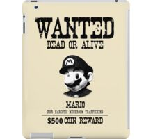 WANTED: MARIO iPad Case/Skin