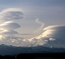 Lenticular clouds by James Duffin