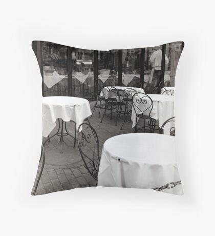 Sidewalk Cafe Throw Pillow