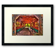 The Kissing Bridge Framed Print