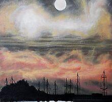 Oil Painting - Emeryville Marina III 2008 by Igor Pozdnyakov