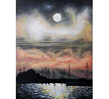 Oil Painting - Emeryville Marina III 2008 Photographic Print