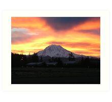 Rainier sunrise Art Print