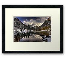 Snowy Bells Framed Print