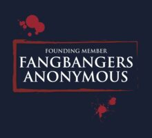 Fangbangers Anonymous - white text by Adriana Owens