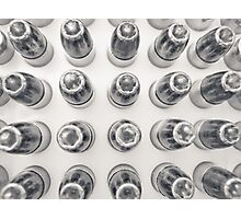 Hollow Point 9mm Bullets in Black and White Photographic Print