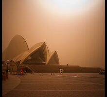 Sydney Dust storm - Opera House by David Petranker