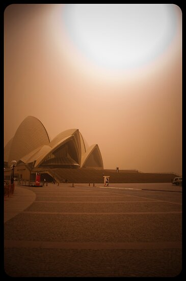 Sydney Dust storm - Opera House by David Petranker